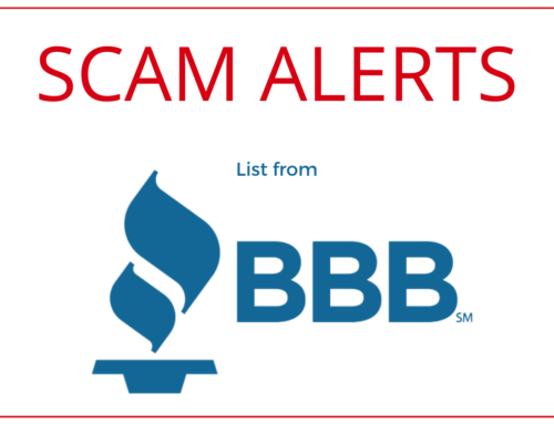 BBB lists Scams