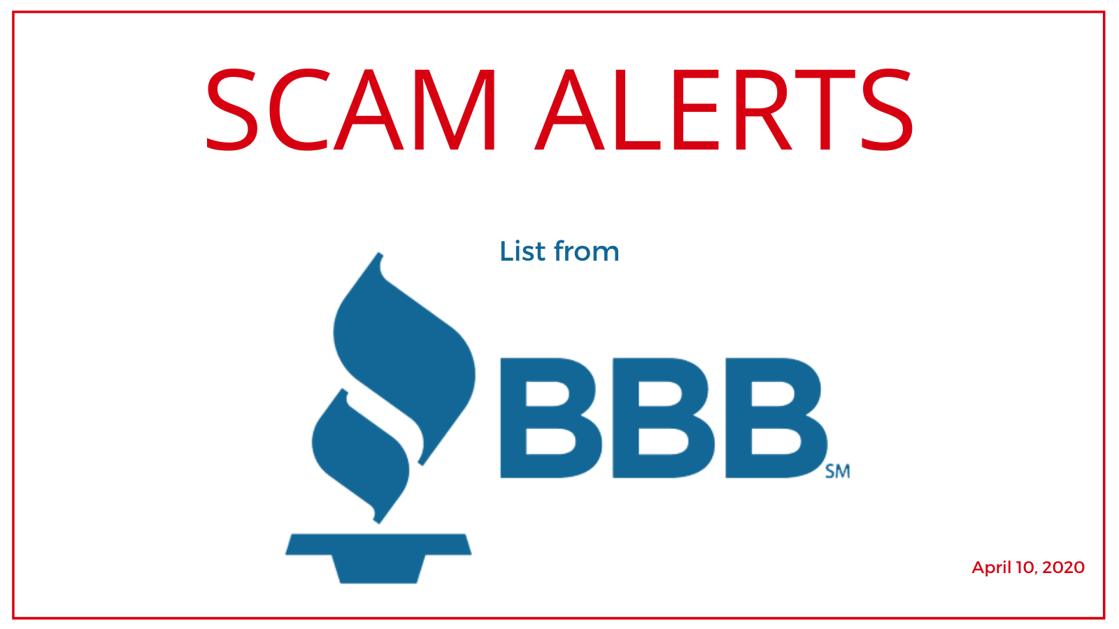 scam alerts from bbb